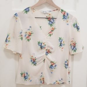 Ruched Wildflower Blouse
